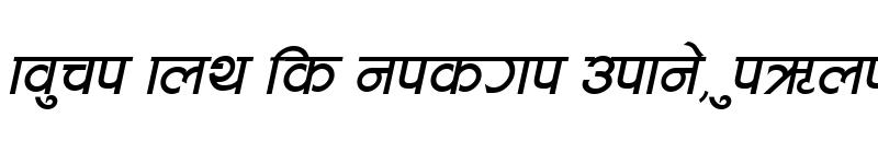 Preview of CV Aakriti Italic
