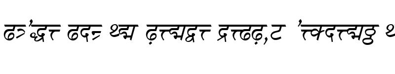 Preview of DV-TTSurekh Italic