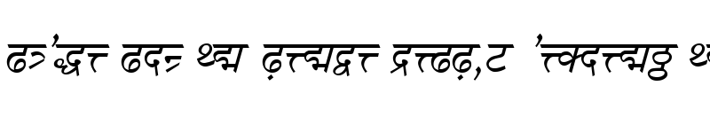 Preview of DV-TTSurekhEN Italic