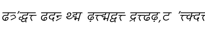 Preview of DV-TTYogesh Italic