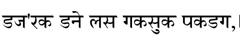Preview of GurbaniHindi Regular