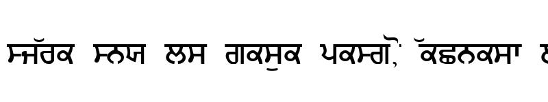 Preview of Gurmukhi_IIGS Regular