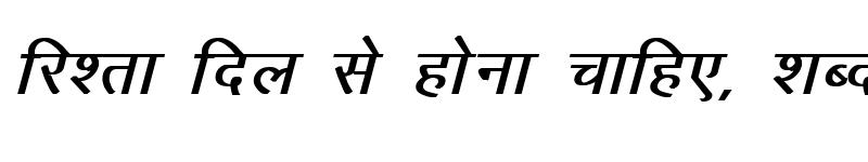 Preview of Kruti Dev 010 Bold Italic