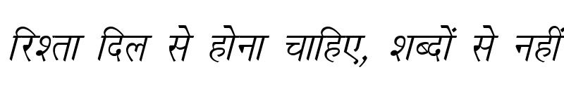 Preview of Kruti Dev 020 Italic