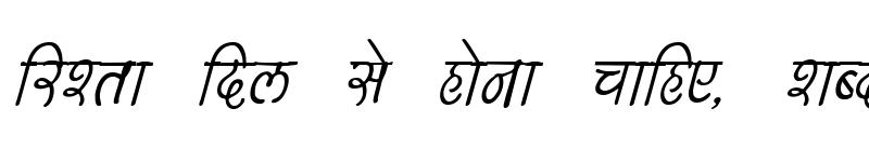 Preview of Kruti Dev 150 Italic