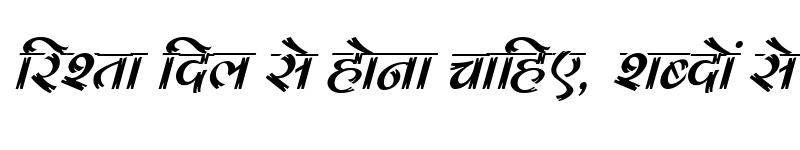 Preview of Kruti Dev 180 Italic