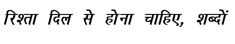 Preview of Richa Bold Italic